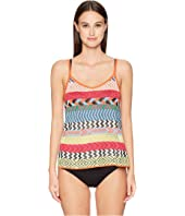 Mary Katrantzou - Carya Top Fira Stripe Knit Cover-Up