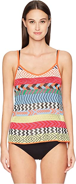 Carya Top Fira Stripe Knit Cover-Up