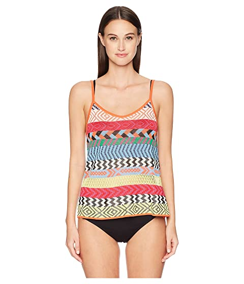 Mary Katrantzou Carya Top Fira Stripe Knit Cover-Up