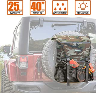 ALL-TOP Overland Series Spare Tire Trash Bag (Woodlang Camo) - Tool & Gear Organizer for Outdoor Off-Road Expedition - Fit...