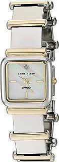 Anne Klein Women's AK/2503MPTT Diamond-Accented Two-Tone Bracelet Watch