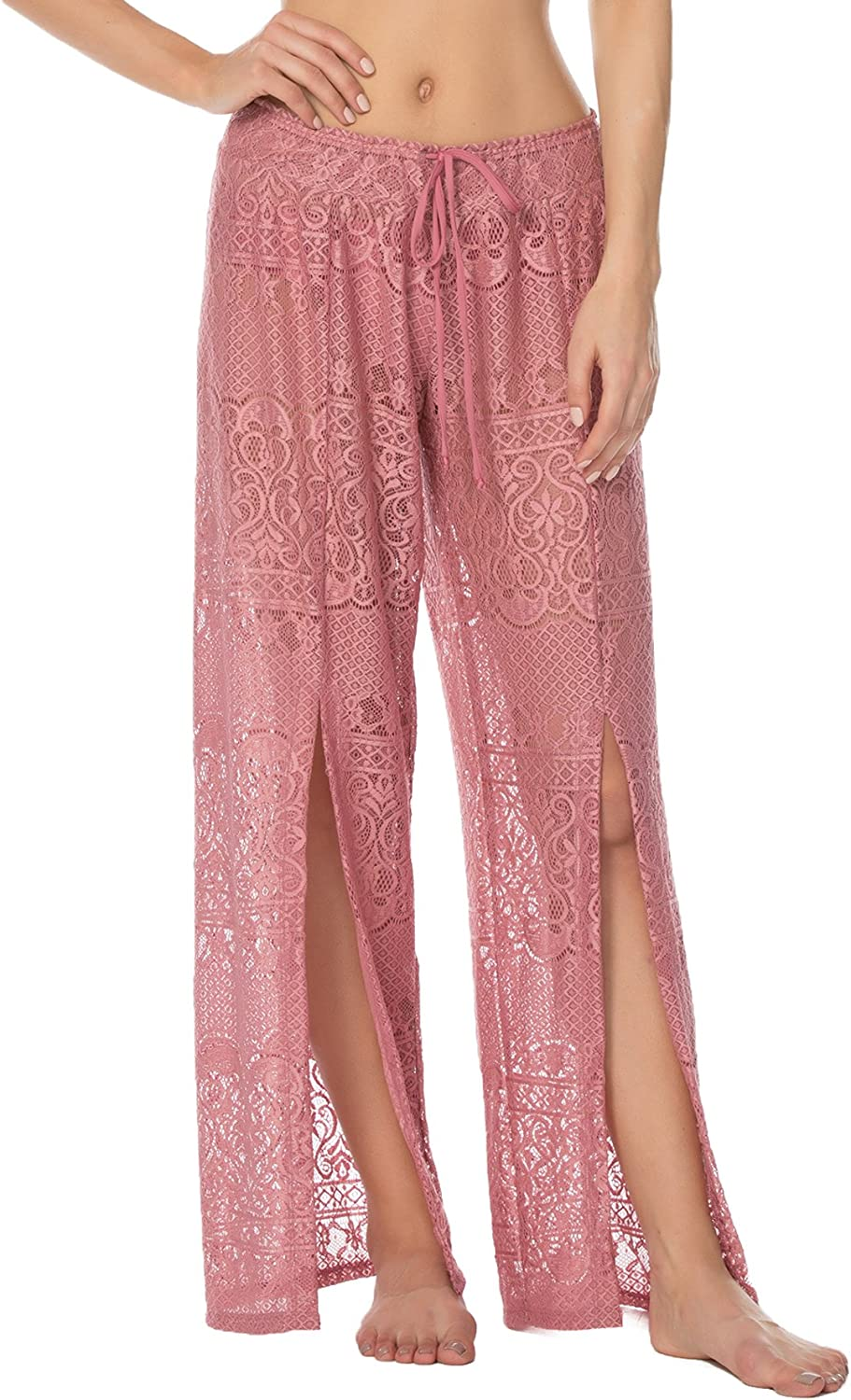 Isabella pink Women's About Lace Pants Swim Cover up