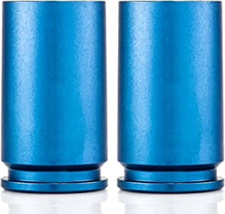 Genuine 30MM A-10 Warthog Cannon Shell Shot Glass in Blue - Set of 2