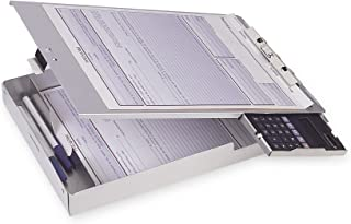 Officemate Aluminum Form Holder, Storage with Calculator, Fits Forms up to 8.5 x 12-Inches (83201)