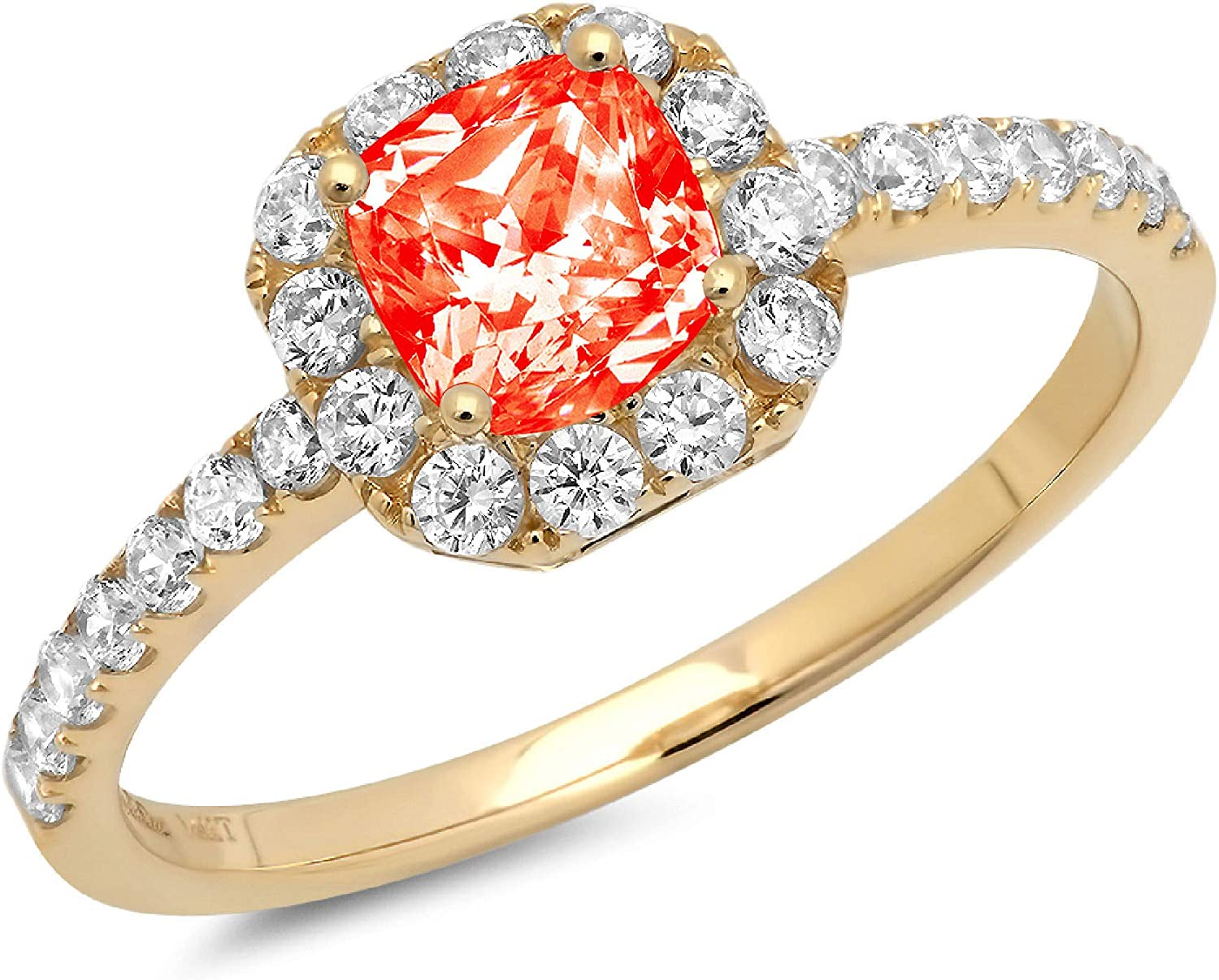 excellence Clara Pucci Recommendation 1.5 Brilliant Princess Accent Cut Solitaire Stunning