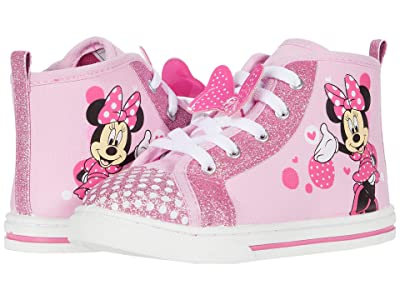 Josmo Kids Minnie Mouse Canvas Sneaker (Toddler/Little Kid) (Pink) Girl