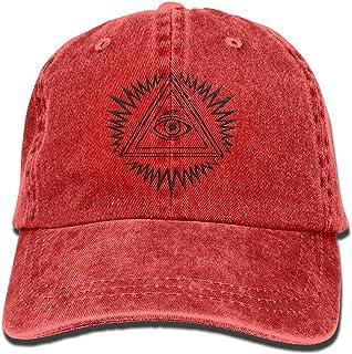 dc224e5a0ce1f9 BenKPooaK Illuminati 3D Customized Washed Denim Hats Autumn Summer Men  Women Golf Sunblock Hockey Caps