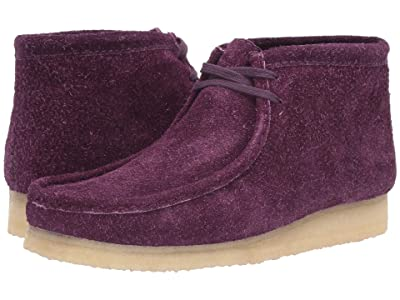 Clarks Wallabee Boot (Deep Purple Hairy Suede) Men