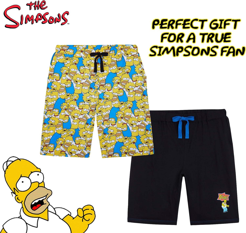 The Simpsons Pantalones Cortos Hombre Pantalon Corto Hombre Deporte 100/% Algodon Pantalones Hombre Comodos Regalos para Hombre Adolescente Talla S-3XL