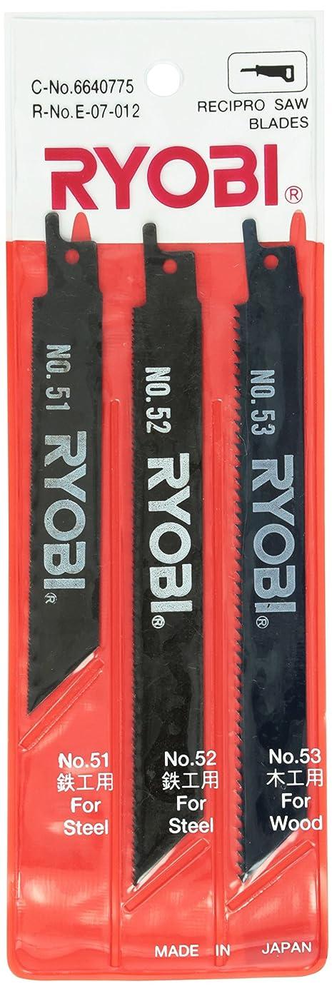 驚貸し手天窓リョービ(RYOBI) レシプロソー刃 ブレードセット 3本組 鉄工?木工用 6640775
