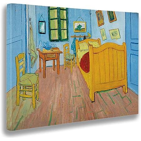 Giallobus Cuadro Vincent Van Gogh La Habitación De Vincent En Arles Estampado En Lienzo Listo Para Colgar Varios Tamaños 70x50 Cm Amazon Es Hogar