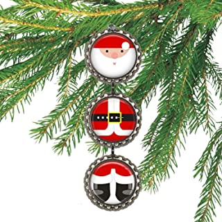 Santa Clause Bottle cap Christmas Ornament