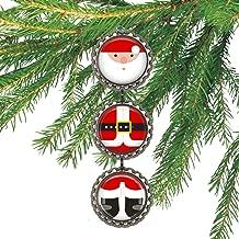 Santa Clause Bottle cap Christmas Ornament
