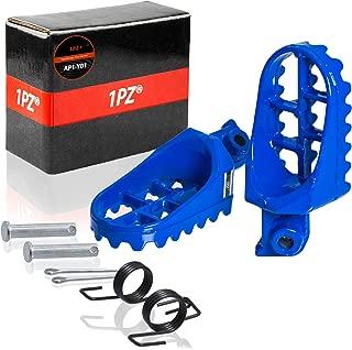 1PZ AP1-Y01 Blue Aluminium Footrest Foot Pegs Rest For Yamaha PW50 PW80 TW200 TTR90 TTR90E Honda XR50R CRF50 CRF70 CRF80 CRF100F Dirt Bike Motocross
