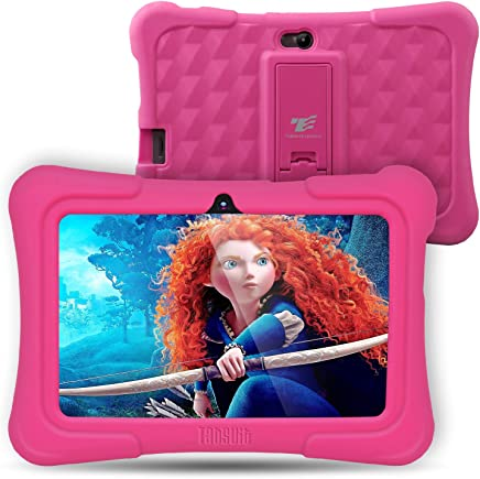 [Upgraded] Dragon Touch Y88X Plus Kids Tablet 7 inch Display Kidoz Pre-Installed with Disney Content (More Than $80 Value) (Android 7.1 OS) Pink