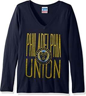 Junk Food MLS Philadelphia Union Women's Long Sleeve Tee, X-Large, TRNY