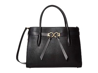 Kate Spade New York Toujours Large Satchel (Black) Bags