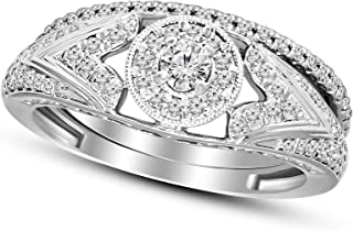 Friendly Diamonds 100% Pure Diamond Engagement Rings 3/4 cttw to 1 carat Lab Grown Diamond Engagement Rings For Women Lab Created Diamond Rings Size 7 Rings 10K Real White Gold Diamond Rings