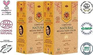 Herbal Me - Light Blonde Henna Hair Color Combo Kit 7.05 Oz+7.05 Oz,CERTIFIED 100% Natural by Ecocert(France).VEGAN & HALAL approved, Zero chemicals(PACK OF 2)