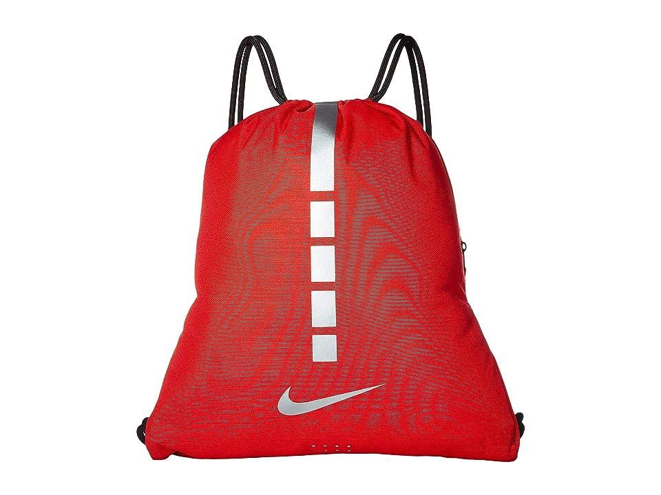 caa34b398773 Nike Hoops Elite Gymsack 2.0 (University Red Black Metallic Cool Grey)  Backpack