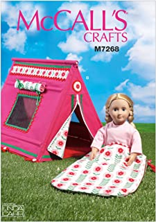 McCall's Sewing Pattern MP606 / M7268 - Sleeping Bag and Tent for 18