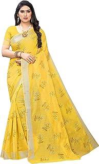 Peegli Saree Women's Chanderi Art Silk Printed Saree Casual Sari 6 Yards