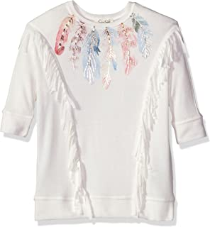 Jessica Simpson Naveah Embroidered T-Shirt Big Girls Size M $39.50