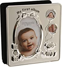 Deluxe Satin Silver Baby Photo Album - My First Album by The Photo Album Company