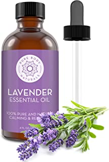 French Lavender Essential Oil Blend by Pure Body Naturals, 4 Fluid Ounces - 100% Pure, Independently Tested, Therapeutic Grade for Aromatherapy or Cosmetics with Glass Eye Dropper (Packaging may vary)