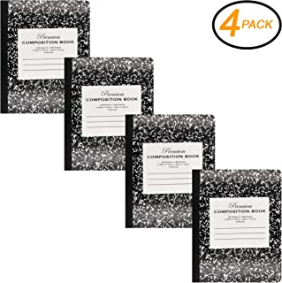 Emraw Black Marble Composition Book Unruled Paper 100 Sheet Office Dairy Drawing Note Books Journals Meeting Notebook Hard Covers Pack Of 4 Writing Book For school