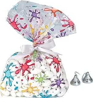 Fun Express - Artist Party Cello Bags for Birthday - Party Supplies - Bags - Cellophane Bags - Birthday - 12 Pieces