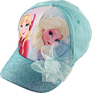 Frozen Elsa and Anna Cotton Baseball Cap with Glitter Pom...