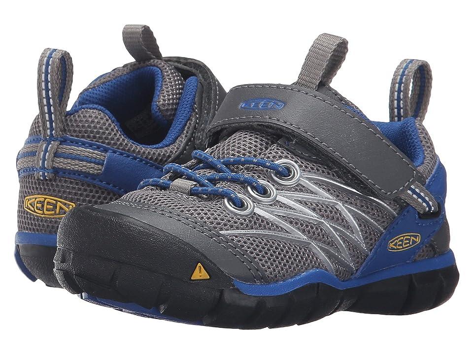 Keen Kids Chandler CNX (Toddler/Little Kid) (Gargoyle/True Blue) Boys Shoes