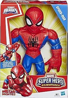 Playskool Heroes Marvel Super Hero Adventures Mega Mighties - Figurine Spider-Man - 25 cm - Jouet enfants