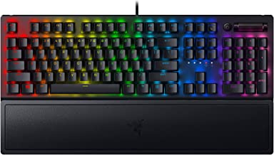 Razer BlackWidow V3 Mechanical Gaming Keyboard: Green Mechanical Switches - Tactile & Clicky - Chroma RGB Lighting - Compa...