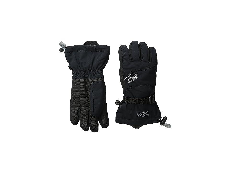 Outdoor Research Kids Adrenaline Gloves (Big Kids) (Black) Ski Gloves