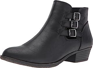 Women's Tikki Dress Block Heel Ankle Boot Ladies Side Zip...