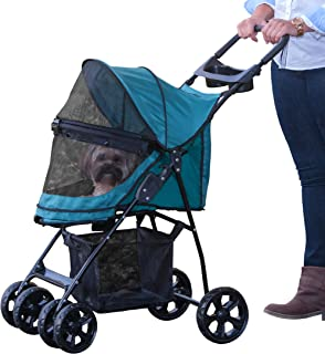 Pet Gear NO-Zip Happy Trails Lite Pet Stroller for Cats/Dogs, Easy Fold with Removable..