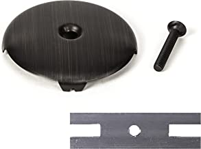 PF WaterWorks PF0930-ORB Universal Bathtub/Bath Tub Drain Single/One (1) Face Plate with Matching Screw for Waste and Overflow-Includes Adapter to Fit 2 Hole, Oil Rubbed Bronze