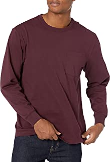 Men's Long-Sleeve Heavyweight Workwear Pocket T-Shirt
