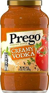 Prego Pasta Sauce, Creamy Tomato Vodka Sauce, 24 Ounce Jar (Pack of 6)