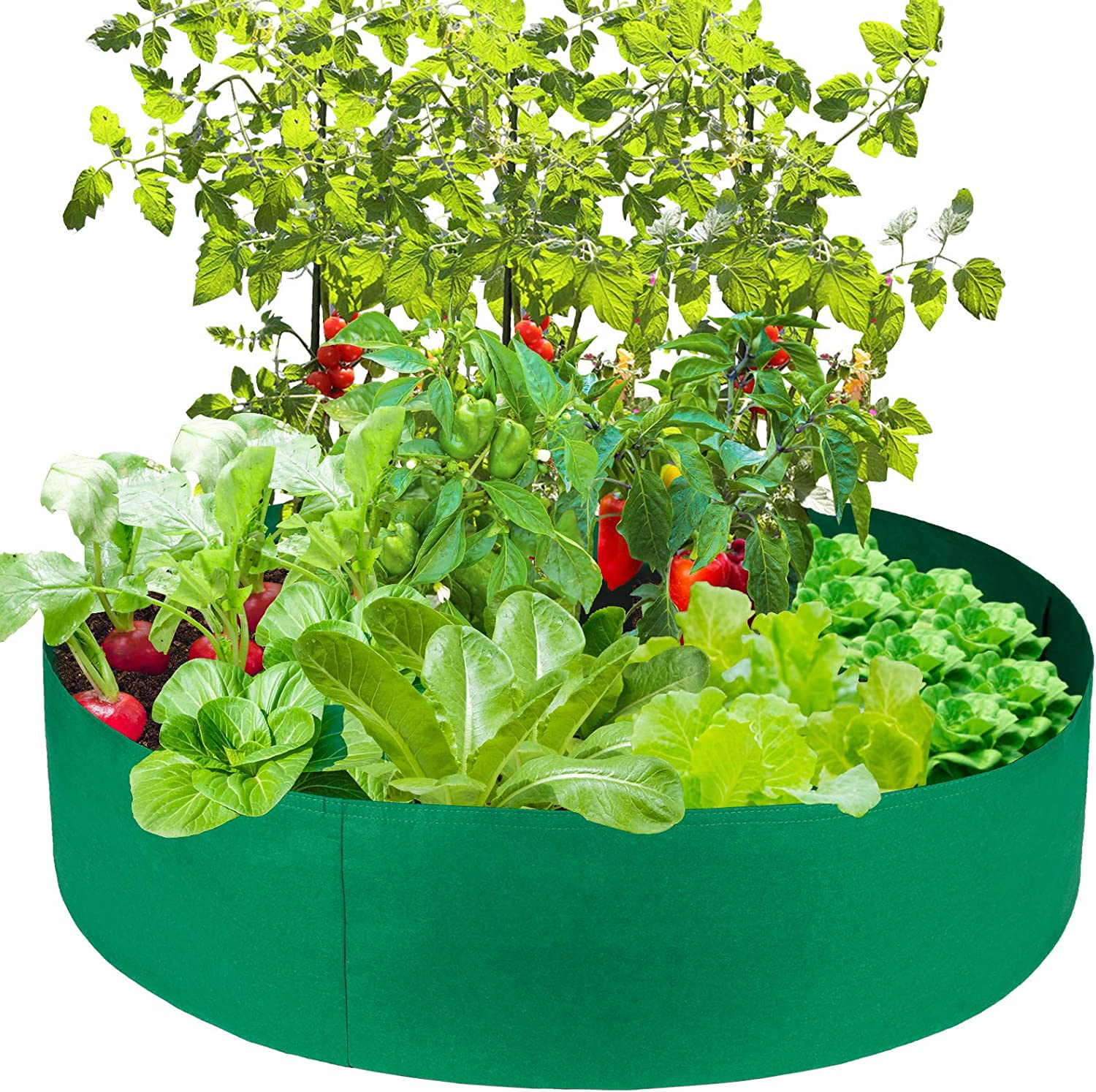 MSUIINT Max 48% OFF Max 85% OFF Raised Garden Bed Round Fabric Planting Felt