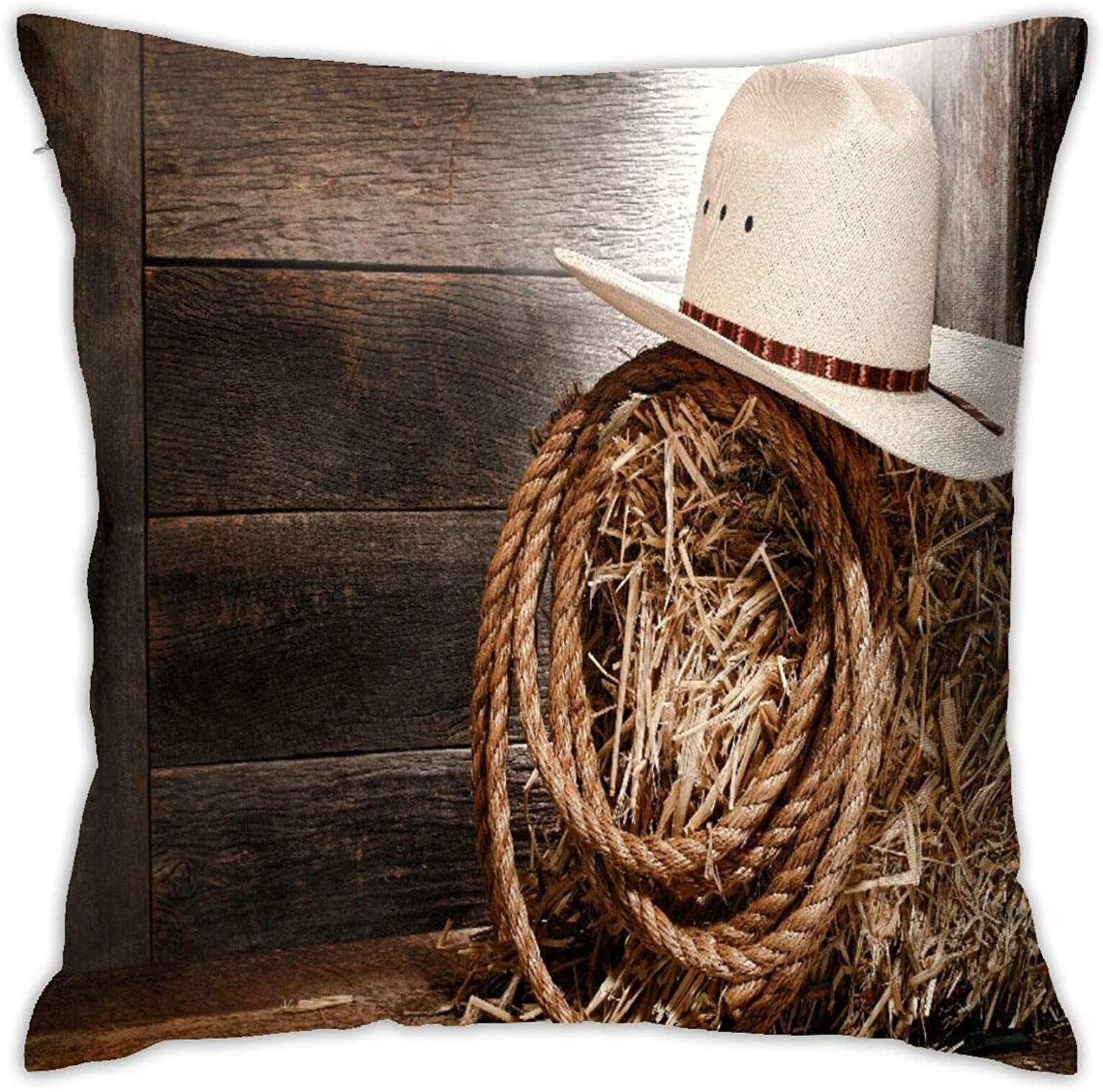 Sales KIMDFACE Throw Pillowcase American Wholesale West Hat Cowboy T Straw Rodeo