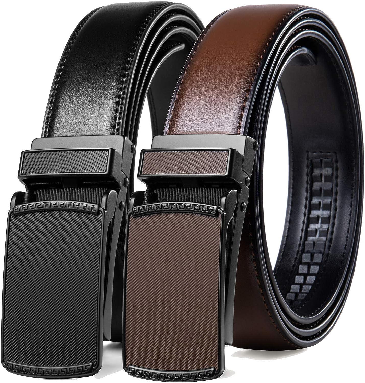 2 store Pack Click Max 81% OFF Ratchet Belt for with Adjust Comfort Men Dress
