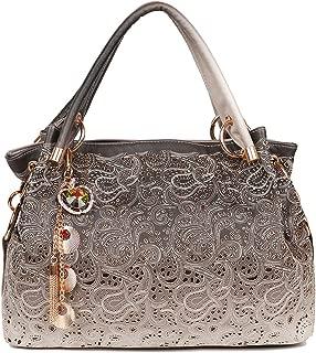 EGOGO Leather Ladies Shoulder Bag Hollow Tote Bag for Women's Hobo Handbags E522-1