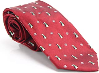 Club Room Men's Holiday Penguin Santa Hat Classic Neck Tie Silk Red Not Applicable