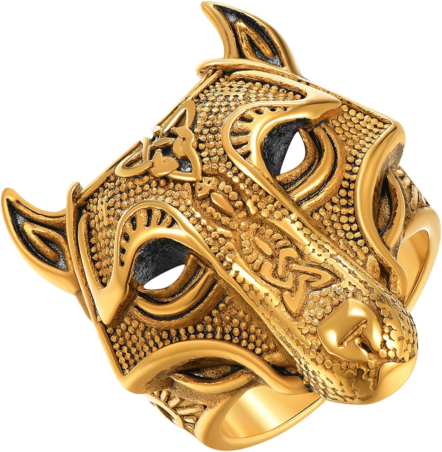 ChainsPro Minneapolis Mall Mens Stunning Free Shipping New Tiger Head Nice Rings Spi Craftmanship