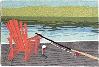 Nautical Tropical Imports Lakeside Water 20 Inch W by 30 Inch L Indoor or Outdoor Rug