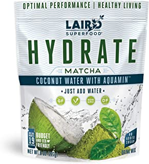 Laird Superfood Hydrate Coconut Water Matcha, 8oz
