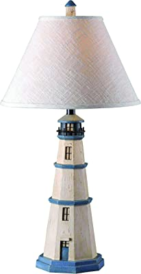 Kenroy Home Casual Table Lamp ,31 Inch Height, 16 Inch Diameter with Antique White Finish